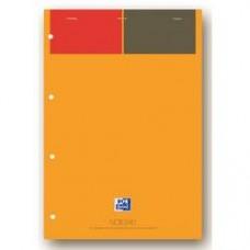 Blocnotes A4+, OXFORD International Notepad, 80 file-90g/mp, 4 perf., coperta carton - dictando