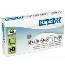 Capse RAPID Standard 23/ 8, 1000 buc/cutie - pentru 10-40 coli