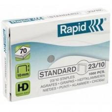 Capse RAPID Standard 23/10, 1000 buc/cutie - pentru 40-70 coli