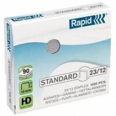 Capse RAPID Standard 23/12, 1000 buc/cutie - pentru 60-90 coli