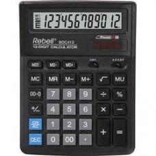 Calculator de birou, 12 digits, 193 x 143 x 38 mm, Rebell BDC 412 - negru