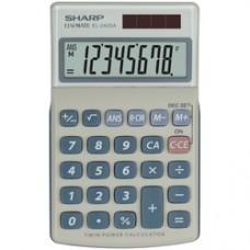 Calculator de buzunar, 8 digits, 116 x 71 x 17 mm, SHARP EL-240SAB - gri