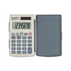 Calculator de buzunar, 8 digits, 105 x 64 x 11 mm, conversie, capac din plastic, SHARP EL-243SB - gr