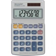 Calculator de buzunar, 8 digits, 116 x 71 x 17 mm, capac din plastic, SHARP EL-250S - gri