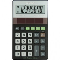 Calculator de buzunar, 8 digits, 117 x 70 x 21 mm, SHARP EL-R277BBK - gri/negru